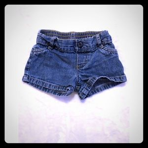 Okie dokie medium wash jean shorts